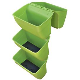 image-Naturtalent Plastic Self-Watering Balcony Planter KHW Colour: Green, Set Size: 4