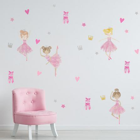image-Ballet Wall Stickers Pink