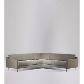 image-Swoon Rieti Corner Sofa in Llama Smart Wool With Light Feet