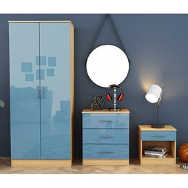 image-Gracie 3 Piece Bedroom Set Isabelle & Max Colour: Blue