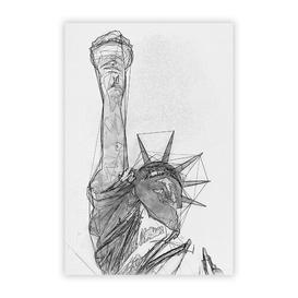image-'Statue of Liberty in New York City' - Graphic Art Print on Paper Big Box Art Size: 42 cm H x 29.7 cm W