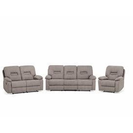 image-Wiggin 3 Piece Reclining Sofa Set Brayden Studio Upholstery Colour: Beige