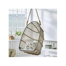 image-Sika Rattan Renoir Hanging Chair in Taupe