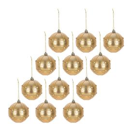 image-A by AMARA Christmas - Pearl Decorative Baubles - Set of 12 - Light Gold