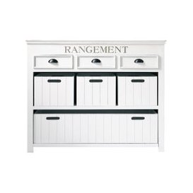 image-White Drawer Chest and Crates Newport