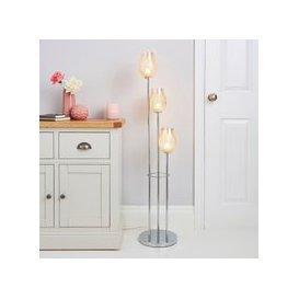 image-Kylee Mercury 3 Light Glass Floor Lamp Silver