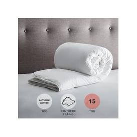 image-Fogarty Down Touch 15 Tog Duvet White