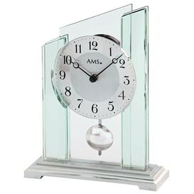 image-Pendulum Mantel Clock AMS Uhrenfabrik Colour: Silver