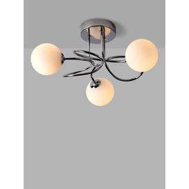 image-John Lewis & Partners Twine Semi Flush Ceiling Light, Chrome
