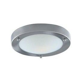image-Modern Bathroom Light Satin Silver With Opal Glass