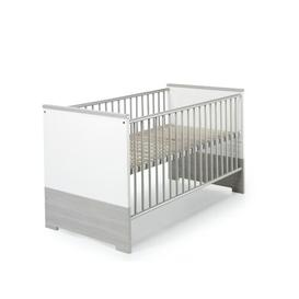 image-Eco Silver 3 in 1 Convertible Cot Bed Schardt Colour: White and silver pine