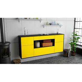 image-Kemah Sideboard Ebern Designs Colour (Body/Front): Anthracite/Yellow