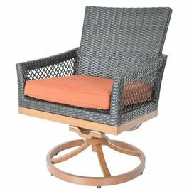 image-Swivel Rocking Dining Chair with Cushion Sol 72 Outdoor