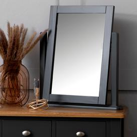 image-Gloucester Midnight Grey Painted Oak Dressing Table Mirror