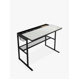 image-John Lewis & Partners Marble-Effect Garden Bar Table, Black
