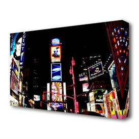 image-'New York Broadway Night Lights' Photograph on Wrapped Canvas East Urban Home