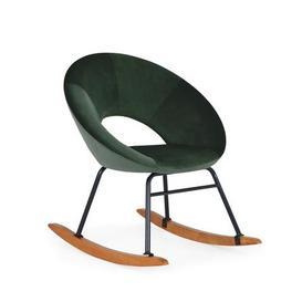 image-Marnie Velvet Rocking Chair - Bottle Green Green