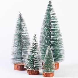 image-Miniature Christmas Tree Ornaments - Set Of 4 - M&w