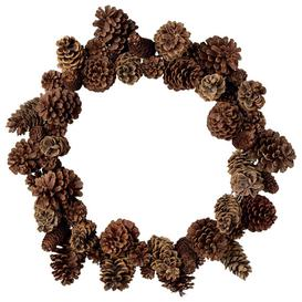 image-Pine Cone Wreath - Brown