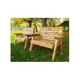 image-Charles Taylor Twin Garden Bench with Straight Tray