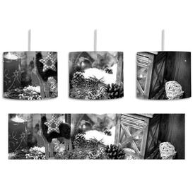 image-Festive Windowsill 1-Light Drum Pendant East Urban Home Shade Colour: Black/White