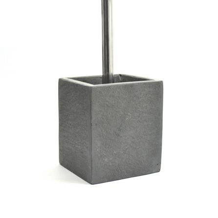 image-Henley Slate Toilet Brush Holder Dark Grey