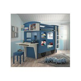 image-Mathy by Bols Wagon Bunk Bed with Drawers - Mathy Marsala