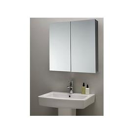 image-John Lewis & Partners Double Mirrored Bathroom Cabinet, Silver