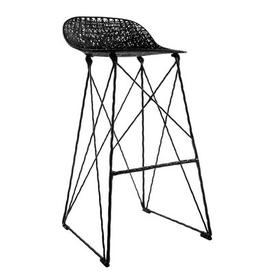 image-Carbon Outdoor High stool - Outdoor - Seat : H 76 cm by Moooi Black
