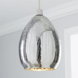 image-Akola Crackle Glass Easy Fit Pendant Silver