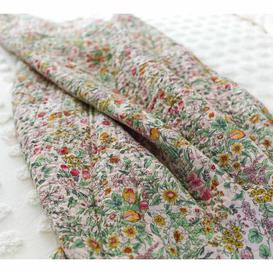 image-Wildflower Quilted Bedspread - Cotton Floral Throw