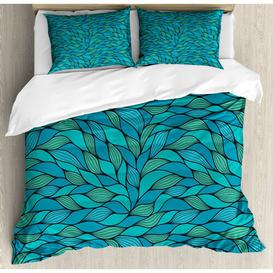 image-Lilbourn TC 350 Duvet Cover Set Ebern Designs Size: Double - 2 Standard Pillowcases