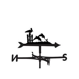 image-Weathervane in Dolphin Design - Large (Traditional)