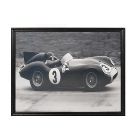 image-Timothy Oulton Artline Race Car 4 Wall Art, Black and White