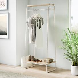 image-Diggs 64cm Wide Clothes Rack IRIS Finish: White/Light Brown