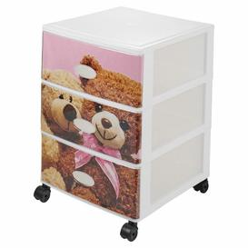 image-3 Drawer Filing Cabinet Symple Stuff Colour: Pink