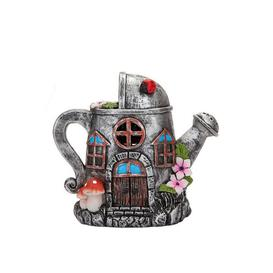 image-Secret Fairy Solar Light Watering Can House