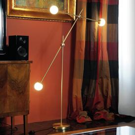 image-Gillen 143cm Unique LED Floor Lamp Corrigan Studio Base Finish: Black/Antique Brass
