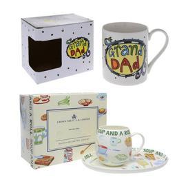 image-Christmas Hamper for Granpa 2 Piece Bone China Mug Set Mercury Row