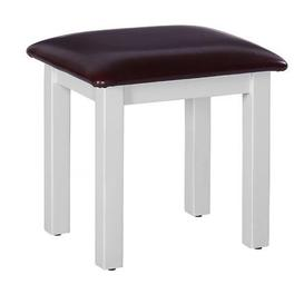 image-Rosa Painted Range Black Faux Leather Dressing Table Stool
