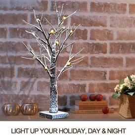 image-Led Christmas Birch Tree Light Up Twig Tree Easter Home Table Branch Lamp Decor