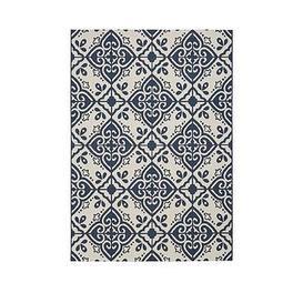 image-Moroccan Tile Flatweave Indoor/Outdoor Rug