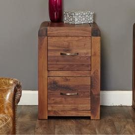 image-Shiro Walnut Two Drawer Filing Cabinet