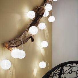 image-Terence LED Paper Lantern String Lights Hykkon