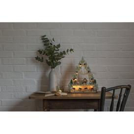 "image-""Winter Christmas Mountain"" LED Wooden Welcome Light Konstsmide"