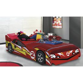 image-Mustang Racing Single Car Bed Just Kids Colour: Gloss Red