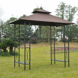 image-Waller 2.5m x 1.5m Metal BBQ Gazebo Sol 72 Outdoor