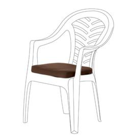 image-Resol Palma Garden Dining Chair Cushion Dakota Fields Colour: Brown