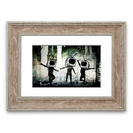 image-Banksy TV Kids - Picture Frame Graphic Art Print on Paper