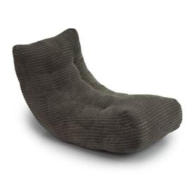 image-'Oliver' Super Soft Jumbo Cord Bean Bag Lounger Ebern Designs Upholstery Colour: Charcoal